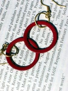 Image of Red Metal Earrings