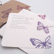 Image of Wedding invitations - Butterfly
