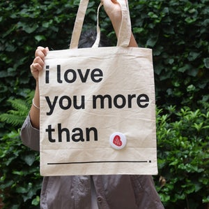 Image of i love you more than totes ~ black