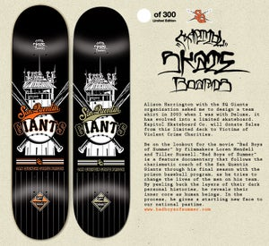 Image of SAN QUENTIN GIANTS LTD. SKATEBOARD