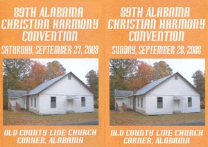 Image of 89th Alabama Christian Harmony Convention Combo Set - Saturday & Sunday - 6 CD set