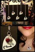 Image of Guitar Pick Charm Necklace