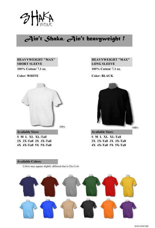 Image of Plain SHAKA Heavy Short Sleeve T-shirts - 6 pieces