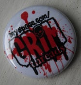 "Image of Grim threads 1"" Promo Button"