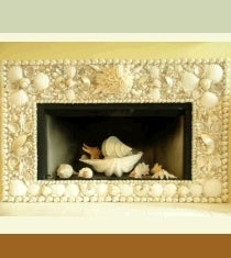 Image of Harborview Seashell Fireplace Surround