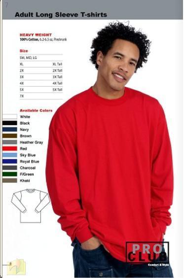 Image of Long Sleeve Tees-HEAVYWEIGHT PRO CLUB