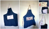 Image of Denim Aprons - denim and cherries & denim and roses