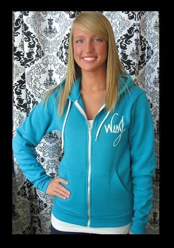 Image of Skyline Zip Hoodie Blue (Unisex)