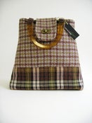 Image of Grey and Brown Tweed 'Dr' Bag...