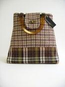 Image of Grey and Brown Tweed 'Dr' Bag...