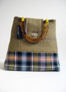 Image of Olive Tweed and Tartan 'Dr' Bag...