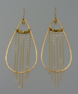 Image of TS401, Hoop drops with chain and nuggets