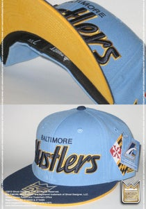 Image of Baltimore Hustlers® ***Fitted Cap*** (Lt.Blue/Navy/Yellow)