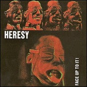 """Image of Heresy - Face Up To It! Coloured 12"""" Vinyl LP (Bubble Gum Pink Vinyl)"""