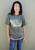 Image of Hope Love Haiti Adult Unisex Tee (Army Green)