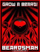Image of Beardsman Beard Propaganda Sticker