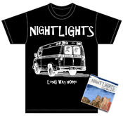 "Image of ALR: 011 Nightlights ""Long Way Home"" CD/T-SHIRT BUNDLE 50%OFF"