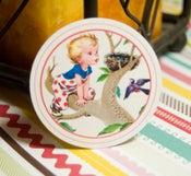 Image of Little Boys Vintage Circle Tags - Set of 12