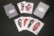 Image of Pin Up Players Playing Cards