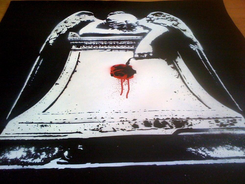 "Image of ""Weeping Angel"" - Original on Paper"