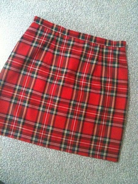 Image of 'Lula' mini skirt in Tartan