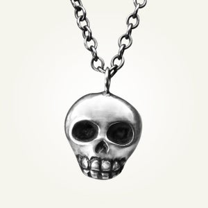 Image of Skully Necklace, Sterling Silver