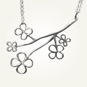 Image of Magnolia Blossom Necklace, Sterling Silver