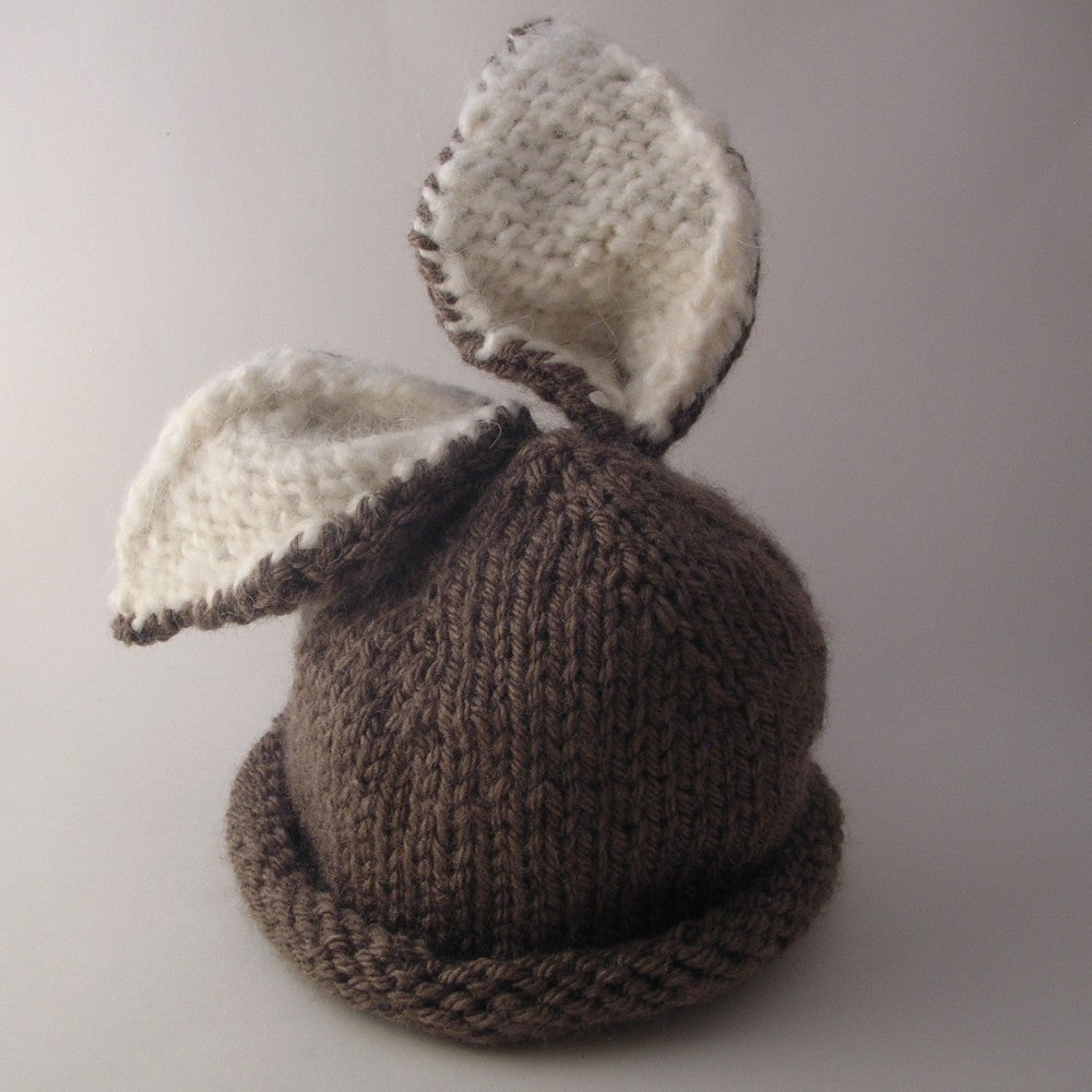 Knitting Pattern Baby Hat With Ears : Briar Bunny Baby Hat Knitting Pattern / Knit it Up Yarns