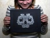 Image of Ornament(al) Skull Letterpress Print