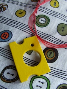 Image of Wooden food necklace