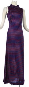 Image of Vintage 70's DIANE VON FURSTENBERG Striped Maxi Dress Jacket Set