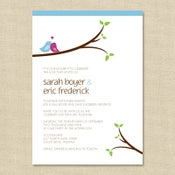 Image of {Sarah} Love Bird Wedding Invitation
