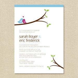 Image of {Sarah} Love Bird Wedding Invitation