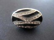 Image of GLAM BLACK SWAROVSKI CRYSTALS COCKTAIL RING
