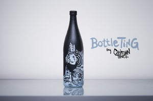 Image of 'Upside Up' is part of an illustration series called 'BottleTing'