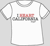 Image of 'I Heart California' - T-Shirt