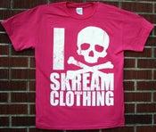 "Image of ""I Skull Skream Clothing"" T-Shirt (Perfect Pink)"