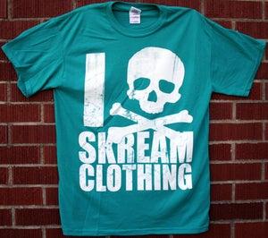 """Image of """"I Skull Skream Clothing"""" T-Shirt (Jade)"""