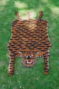 Image of  ENDANGERED SPECIES;Tiger rug, hand felted.