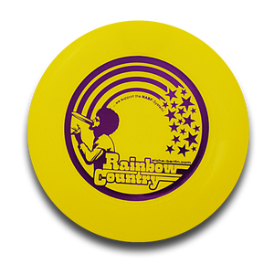 Image of Freestyle Frisbee - RAINBOW COUNTRY (yellow)