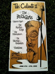Image of Hand-pulled silk screen gig poster: Tiki Caliente