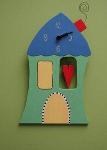 Image of Stenska ura - zelena Pravljična hiša