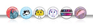Image of Tacopunch Limited Edition Pin Set No. 1 Designed by Coex System