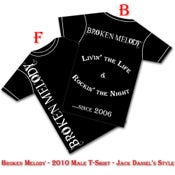 """Image of Broken Melody Male T-Shirt """"Rocking the Night"""""""
