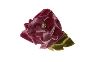 Image of Silk Velvet Rose Corsage