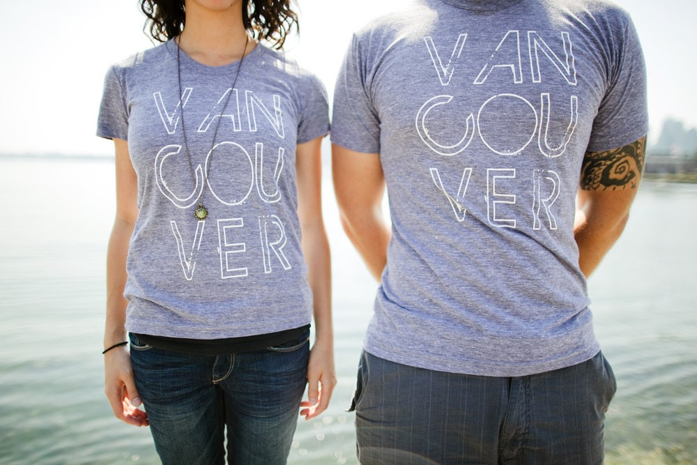 Image of Vancouver, we love you T-shirt (Grey)