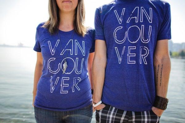 Image of Vancouver, we love you T-shirt (Indigo)