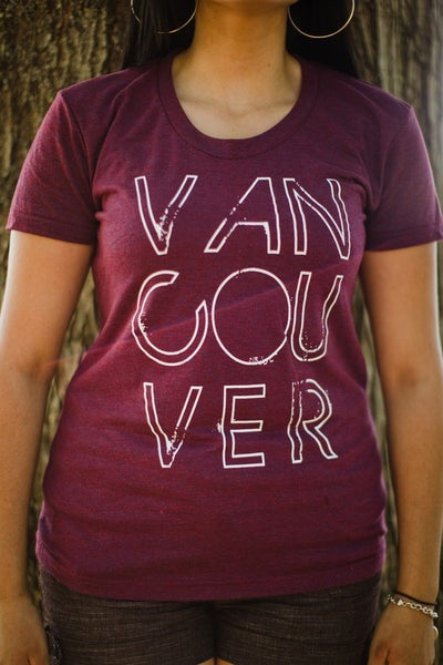 Image of Vancouver, we love you T-shirt (Cranberry)