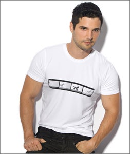 Image of Film Strip T-Shirt White collaboration with Toky