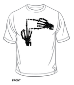 Image of Skeleton Hands T-Shirt + FREE Diligence Album